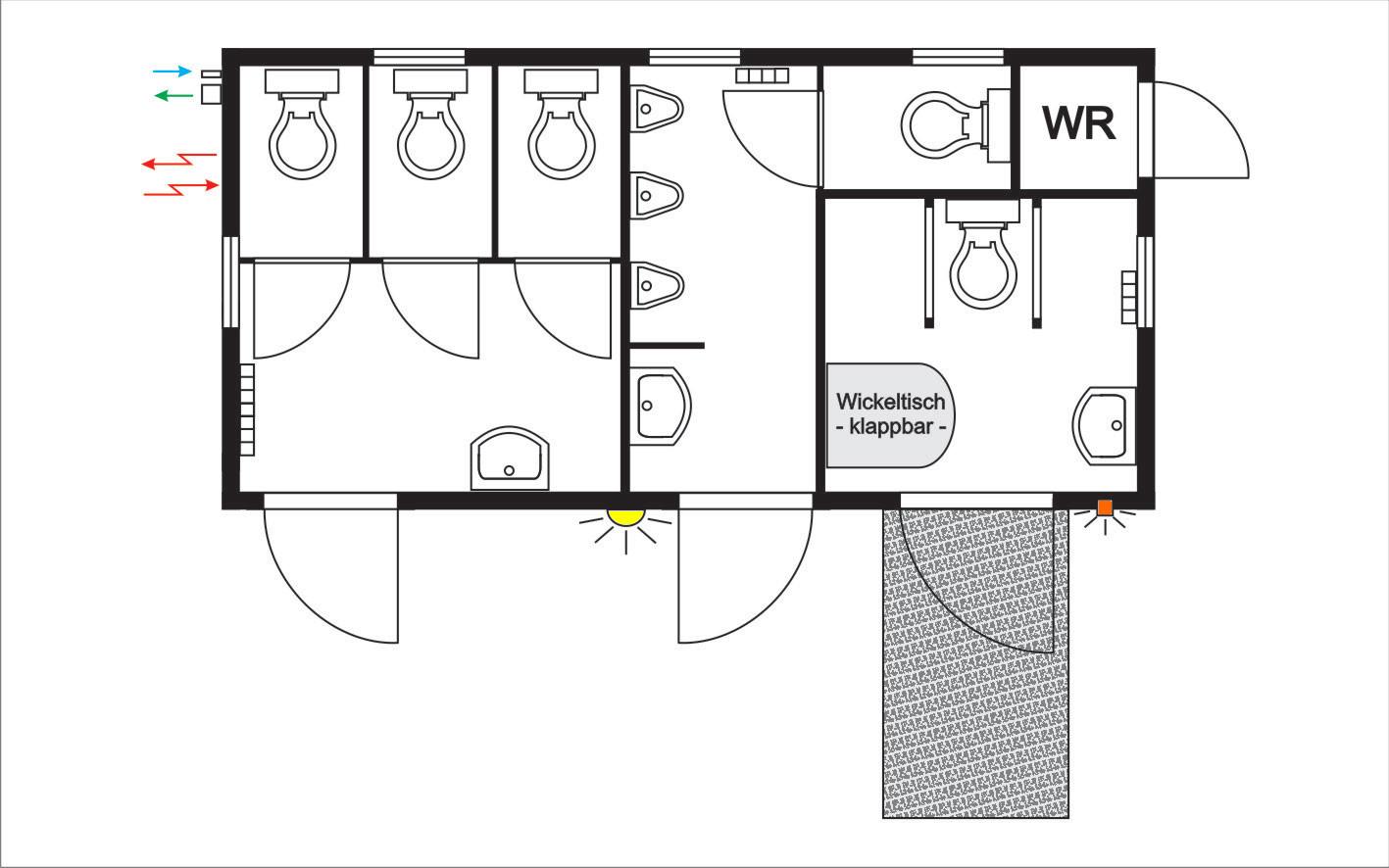 behindertengerechte toilettencontainer eventcontainer. Black Bedroom Furniture Sets. Home Design Ideas